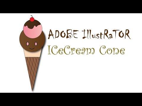 Draw a simple ice cream cone in Adobe illustrator