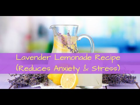 Lavender Lemonade Recipe (Reduces Stress & Anxiety)
