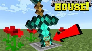 Minecraft: SWORD HOUSE!! (HOW TO LIVE INSIDE A SWORD!)