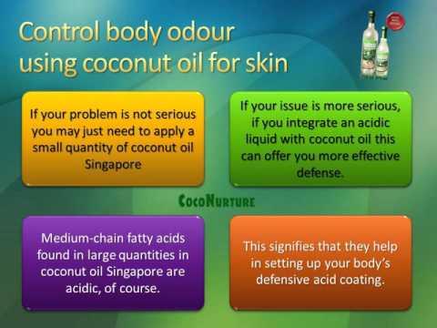 Coconut oil for skin fights body odor