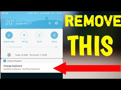 how to remove change keyboard notification from any android or miui