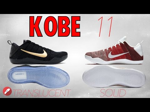 Kobe 11 Translucent vs Solid Rubber Outsole! What's Better?