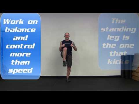 Jump Kick Bodyweight Exercise
