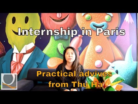International intern Thu Ha in Paris
