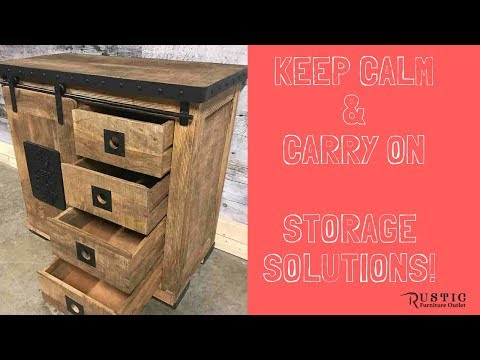 Keep Calm & Carry On Rustic industrial Furniture