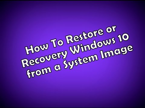 How To Restore or Recovery Windows 10 from a System Image | উইন্ডোজ ১০ এ সিস্টেম ইমেজ রিষ্টোর করুন