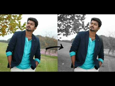 PicsArt Tutorial - How to change Background color to the Black and White | Special Splash Effect