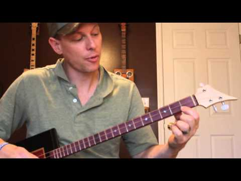 How to Play 3-string Cigar Box Guitar in any key