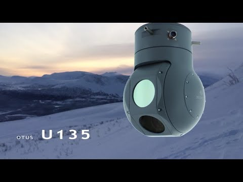 DST Control's OTUS-U135 gyro-stabilized EO/IR gimbal for UAV/Drones - Video Medley