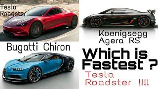 Supercars Gallery: Tesla Roadster Vs Bugatti Veyron