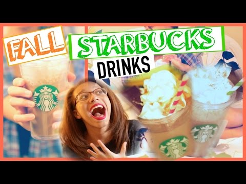 DIY Fall Starbucks Drinks: Pumpkin Spice Frappuccino & Salted Caramel Macchicato!