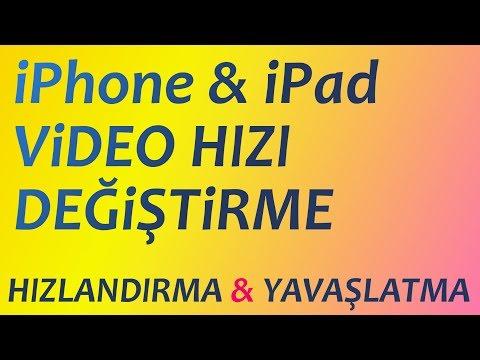 iOS VİDEONUZUN HIZINI KOLAYCA DEĞİŞTİRİN (imovie) | iOS slow motion & fast motion