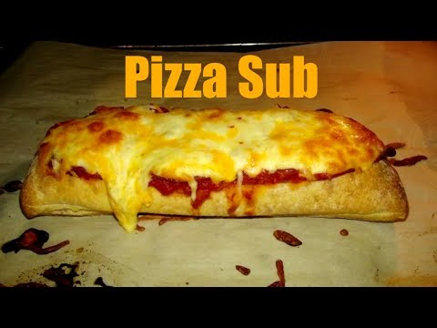 How to make a Pizza Sub Recipe with Pepperoni and cheese