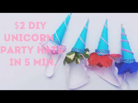 Quick & Easy Unicorn Party Hats DIY