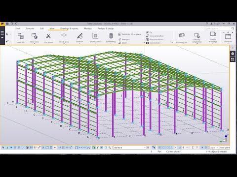 Double Span Portal Frame Modelling in TEKLA STRUCTURES 2016