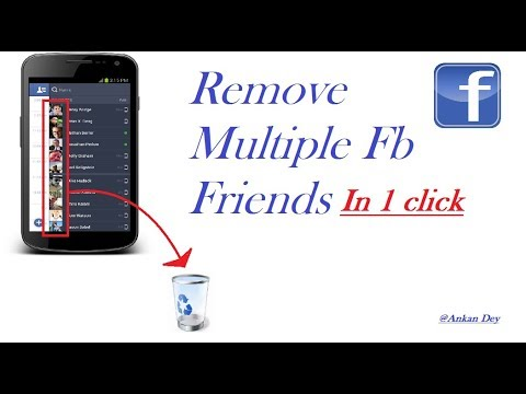 How To Remove Multiple Fb Friends In 1 Click