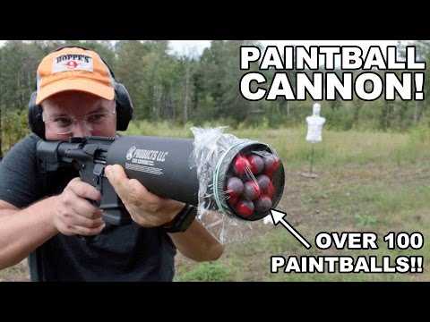 Paintball Cannon!  100+ Paintballs per Shot