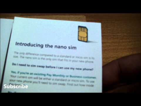 First Look O2 Nano Sim Card for iPhone 5 (iPhone unboxing tomorrow)