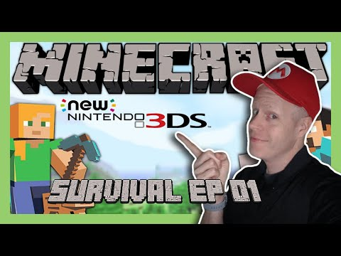 Minecraft on New Nintendo 3DS [Survival EP 01]