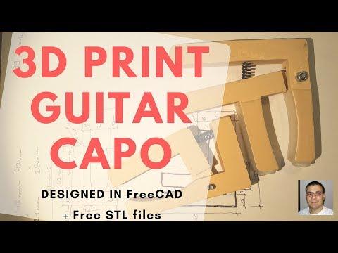 🔴 GUITAR CAPO DIY 🎸 3D PRINT