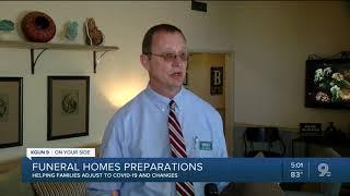 Funeral homes prepare for COVID cases