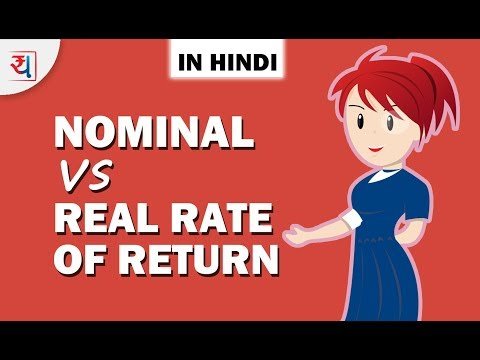 Nominal vs Real Rate of Return in Hindi | Inflation से Rate of Return  पे क्या असर पड़ता है?