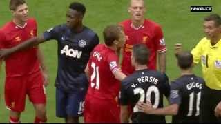 Liverpool vs Manchester United • Fights, Fouls - Referees, Red Cards