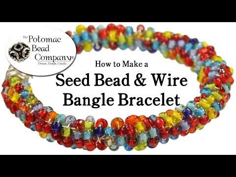How to Make a Seed Bead & Wire Bangle Bracelet