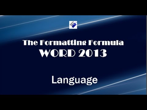 Word 2013   Language - Change Proofing Language