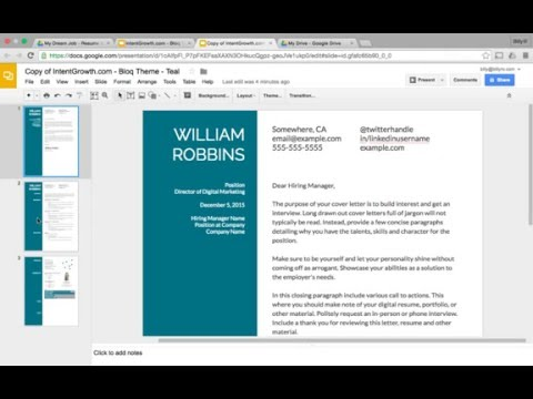 Resume & Cover Letter Template Tutorial