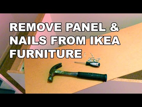 How to remove nails from IKEA furniture