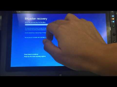 F110 bitlocker recovery OSK issue