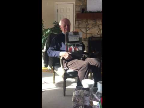 Grandpa Opens His Christmas Present