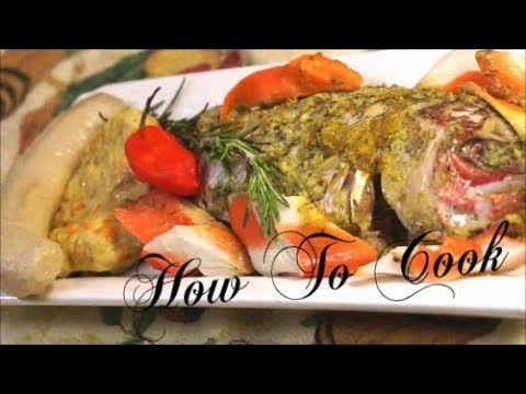 HOW TO COOK JAMAICAN SNAPPER FISH (baked recipe)How to cook