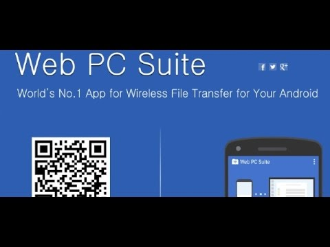 Web PC Suite  File Transfer Android App Review Video