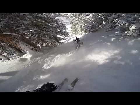 Snowbird Utah Chute Skiing Follow Cam Baldy Bluebird Day Powder Ski