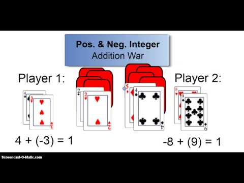 Positive and Negative Integers Games