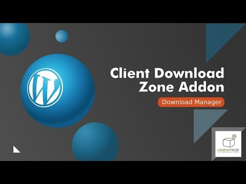 WordPress Customer Area and Client Download Zone Plugin Tutorial