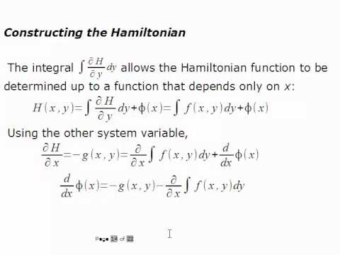 ODE Ch. 3 Lecture 3 Hamiltonian Systems