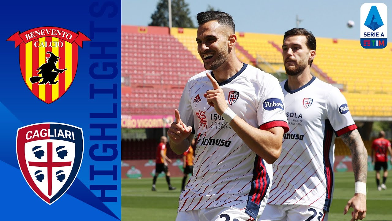 Benevento 1-3 Cagliari | Cagliari wins and moves away from the relegation places | Serie A TIM