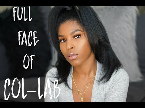 FULL FACE USING COL-LAB MAKEUP!