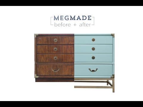 MegMade Before + After - Mint Campaign Dresser