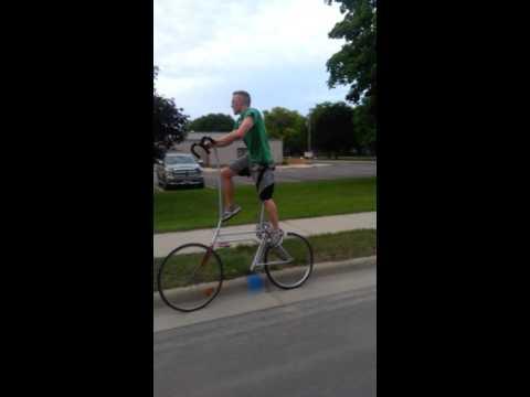 Falling off a tall bike