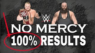 WWE No Mercy 2017: Results Predictions