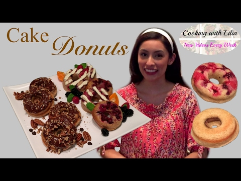 How to make Cake Donuts - Homemade Nutella Donuts -- Fruit Cake Donuts - Bloody Donuts