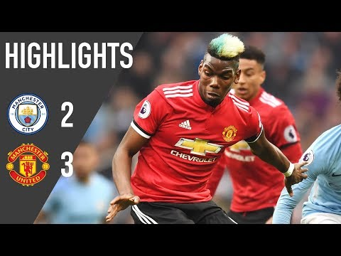 Manchester United 3-2 Manchester City | Premier League Highlights (17/18) | Manchester United