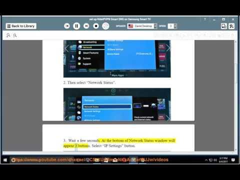 Set up HideIPVPN Smart DNS on Samsung Smart TV