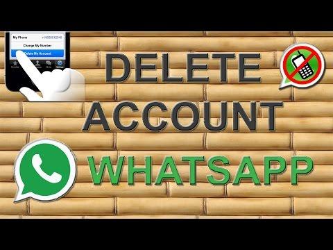 How to delete whatsapp account permanently?
