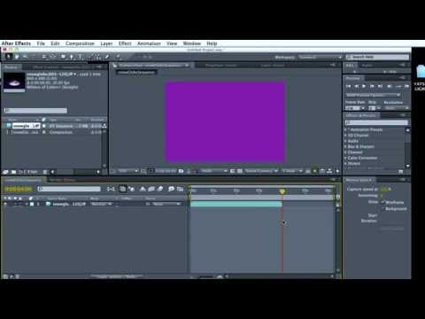 Import Image Sequence into After Effects