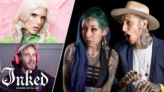 Tattoo Artists React To Youtuber&'s Tattoos | Tattoo Artists Answer